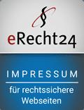 Impressum Siegel eRecht24 für rechtssichere Webseiten